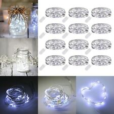 12 Pack 6.6ft 20 LEDs Battery Operated Mini LED Copper Wire String Fairy Lights