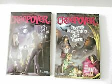 Lot of of 2 You're invited to a Creepover night Free Ship horror chapter books