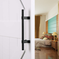 Sliding barn Door Handles Pull Set Cabinet Closet Garage Door Handle Black Steel