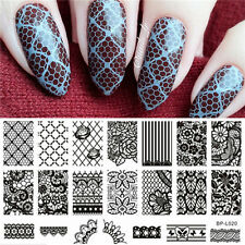 1 Pc Lace Flower Pattern Nail Art Stamp Template Image Plate 12.5 x 6.5cm