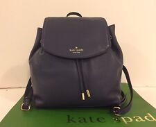 NWT Kate Spade WKRU3939 Diver Blue Leather Backpack Breezy Mulberry Street $329