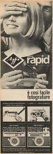 J0494 Macchina fotografica AGFA sistema Rapid - Pubblicità - 1964 Vintage Ad
