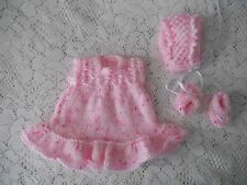 Doll Clothes Vintage Style Pink Hand-knitted dress fit  Berenguer Heidi Ott 8in