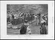 1894 Antique Print - LONDON WHITTON PARK KNELLER HALL BAND MILITARY MUSIC (129)