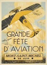 MONT-SAINT MICHEL FETE AVIATION, FRANCE French Travel Poster 250gsm A3 Print