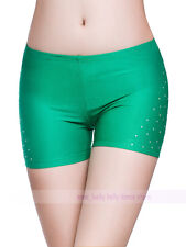 New Soft Belly Dance Costume Rhinestone Safety Shorts Underwear Pants 14 colors