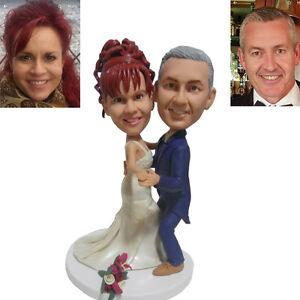 Custom Wedding Cake Topper Bride and Groom Dance Wedding Funny Cake Topper Gift