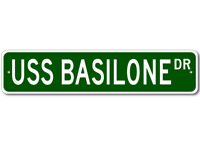USS BASILONE DD 824 Ship Navy Sailor Metal Street Sign - Aluminum
