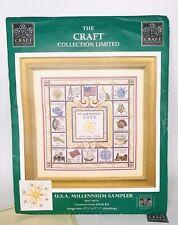 Cross Stitch Kit Sampler USA Millennium The Craft Collection 76476 Opened Pkg