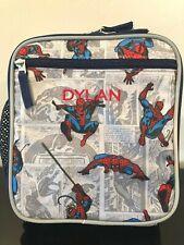 """Lunch Box Set Black Web Slinger Holograph NEW 16/"""" Spiderman Backpack"""