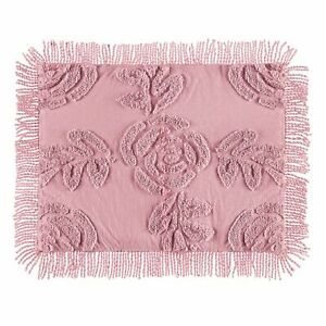 Lattice Rose Chenille Standard Size Pillow Sham Cover