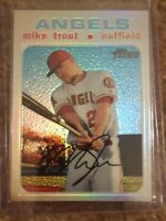 2020 TOPPS HERITAGE  MIKE TROUT CHROME REFRACTOR #THC-466  (257/571)