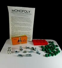 Monopoly Replacement Parts Hotels Houses Cards Pieces  1985