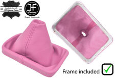 BABY PINK LEATHER FOR VW VOLKSWAGEN NEW BEETLE 98-05 GEAR BOOT PLASTIC FRAME
