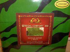 Zebra Green Black Stripes-Twin Size 3 Pc Sheet Set,800 TC Deep Pocket Free To US
