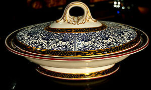 Royal Worcester Royal lily Covered Vegetable Tureen Circa 1878