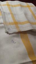 1 leinen damast 220 x 126 cm (festtagsdecke), + 12 servietten, jugendstil  TOP