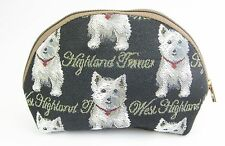 Tapestry Signare West Highland Terrier Cosmetic Purse Bag * Cute Westie Dog