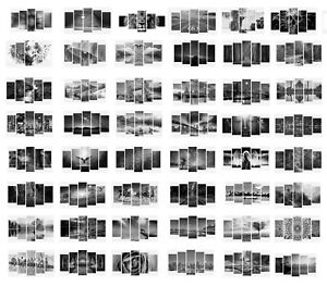 Framed Black And White 5 Split Panel Canvas Picture Print Home Wall Decor Art