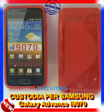Pellicola+Custodia cover case WAVE ROSSA per Samsung Galaxy Advance I9070