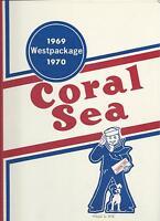 ☆* USS CORAL SEA CVA-43 VIETNAM DEPLOYMENT CRUISE BOOK YEAR LOG 1969-70 NAVY *☆