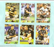 2008 NEW ZEALAND WARRIORS  SELECT NRL CHAMPIONS  RUGBY LEAGUE ALL 12 TEAM CARDS