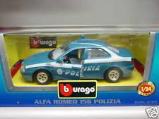 BURAGO 0185-ALFA ROMEO 156 POLIZIA-SCALA 1/24-ORIGINALE BURAGO MADE IN ITALY