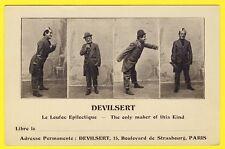 cpa RARE Spectacle Artiste Cirque Clown DEVILSERT  Le Loufoque Epileptique