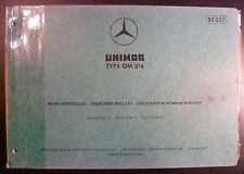 Mercedes Motoren Ersatzteilliste OM 314 (Unimog)