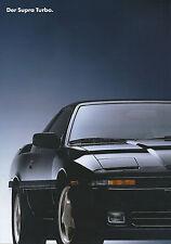 Toyota Supra Turbo Prospekt 1/92 car brochure Auto Pkw Autoprospekt Asien Japan