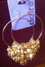 Claire's Claires Accessories Official Earrings Gold Dangly Elegant Hoops £7 RRP