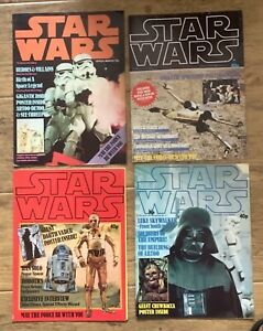 Vintage official Star Wars Poster Magazine issues 1 - 4