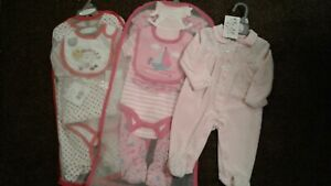 Bundle of baby girls clothes sets x 3 size 3-6 months