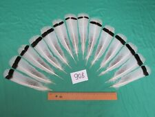 14 pcs Royal Palm Turkey Tail Feathers (Long 16-22cm/Fiber 40-55mm)*(908)