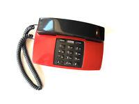 Vintage Radio Shack Red Home Desk Fashion Phone Telephone Push Button MCM