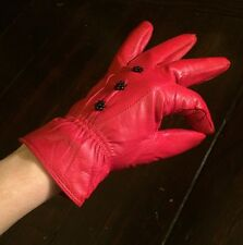 Red Leather Women's Gloves