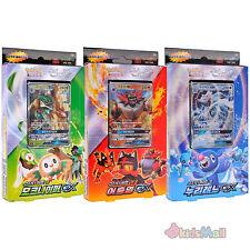 Jeu de Cartes JCC Pokémon SL1 Soleil et Lune GX Starter 3 Decks à Thème Coréen