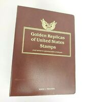 Golden Replicas of United States Stamps / 22k gold plated Includes 13 Stamps