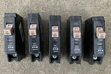 5 Cutler-Hammer Chf120 Circuit Breakers w/ Flag, Type Ch 20A 1Pole