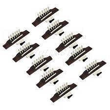 10 Sets Acoustic Guitar Rosewood Bridge Bone Pins Saddle Nut and Ebony Endpin