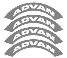 4x Advan pneu Stencils, Rauh Welt, Illest, Fatlace, Rsf, Drift, pneu, pneus bombe