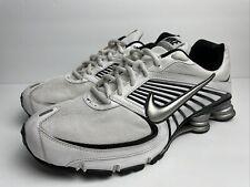 Nike Shox Turbo 8 Men Size 13 White Silver Black Running Shoe