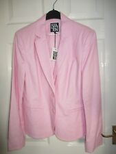 Ladies Pink linen jacket size 14 BNWT