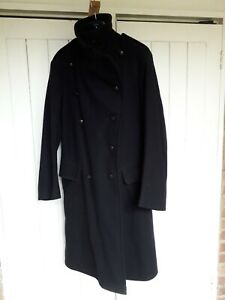 Civil Defence Greatcoat - dated 1952 - Black Wool