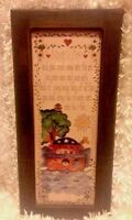 NOAH'S ARK Picture Wood Frame Rectangle Vintage Missouri Ozarks Family Creations