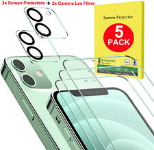 Tempered Glass Screen Protector + Camera Lens Film For iPhone 12 Pro Max Mini 12