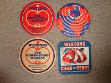 Beer mats coaster drip CIDER PERRY WESTONS Ledbury Herefordshire job lot rare