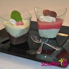 50 x Premium Fingerfood Schalen Dorico 200ml Tappas Dippschalen Glasfarbe klar