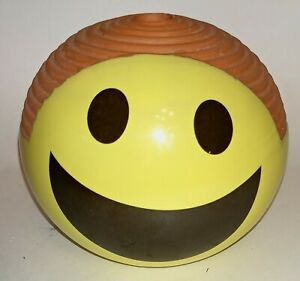 Chia Pet Yellow Smiley Face Emoji Decorative Planter.