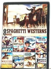 SPAGHETTI WESTERNS 8 FULL MOVIES DVD , SUNDANCE CASSIDY,BLOOD MONEY,WANTED,NEW!